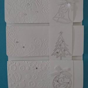 10 db - Hófehér téli, karácsonyi pénz(ajándék)átadó boríték ajándékkísérővel - téli születésnap - céges megrendelés, Naptár, képeslap, album, Otthon & lakás, Karácsonyi, adventi apróságok, Ünnepi dekoráció, Dekoráció, Ajándékkísérő, Ajándékkísérő, Papírművészet, Pénz- vagy ajándékutalvány átadására készült zsebes borítékok, ajándékátadó kártyával.\n\nA szeretette..., Meska