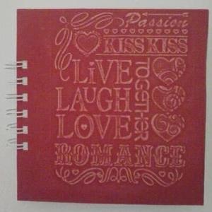 Egyedi album - emlékmegőrzés - évforduló - love - esküvő - szeretet - Valentinnap - romantika - kedves gondolatok-emlék, Album & Fotóalbum, Papír írószer, Otthon & Lakás, Papírművészet, Egyedi dombormintával készült feliratos album. \n\nMérete: 15x15cm (15 lap/30 oldal)\n\nA napló keményfe..., Meska