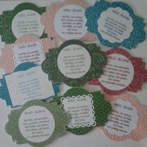 Csoportajándék: Házi áldás - szalaggal vagy szalag nélkül - összejövetelekre, barátoknak - házavató - egyedi ajándék, Otthon & lakás, Naptár, képeslap, album, Gyerek & játék, Lakberendezés, Papírművészet, (Ha csak egy terméket szeretnél, kérlek jelezd üzenetben.)\n\nA bejárati ajtóra, ajtókilincsre, falra ..., Meska
