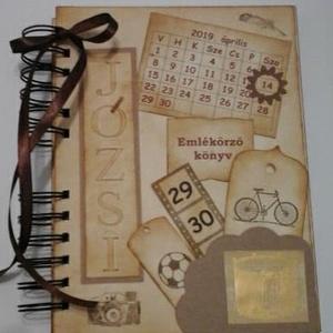 Emlékmegőrző - Boldog születésnapot! - dátumhoz kötött ünnepek -  album - születésnap - férfi, Album & Fotóalbum, Papír írószer, Otthon & Lakás, Papírművészet, Barátok, családtagok, munkatársak részére lehet jókívánságokat írni a naplóba.\n\n.....vagy barátok, c..., Meska
