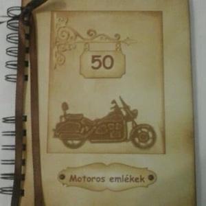 Motoros album - születésnapi ajándék - örök emlék - emlékmegőrző - rendezvények - találkozók - versenyek, Album & Fotóalbum, Papír írószer, Otthon & Lakás, Papírművészet, Az albumot azoknak a barátaidnak, szeretteidnek ajándékozhatod, akik szívesen őrzik meg a motoros ta..., Meska