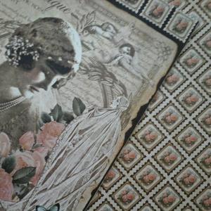 Romantikus esküvő - vendégkönyv - házassági évforduló - jókívánságkönyv - esküvői kiállítás fényképei (Milevi) - Meska.hu