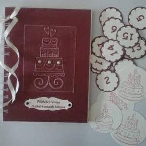 Lepkés album - tematikus esküvő  - születésnap - lánybúcsú - vendégkönyv -  jókívánságkönyv  (Milevi) - Meska.hu