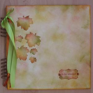 Őszi tematikus esküvő - vendégkönyv - album - őszi családi események - emlékmegőrző - ősz szépségei - őszi élmények, Album & Fotóalbum, Papír írószer, Otthon & Lakás, Papírművészet, Sokan úgy gondolják, hogy az ősz az elmúlás ideje, pedig ebben az évszakban történik a legtöbb olyan..., Meska