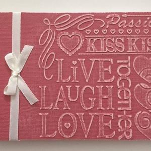Esküvő - vendégkönyv - jókívánságkönyv - lánybúcsú - emlékek - nyugdíjasbúcsúztató - eljegyzés 4, Otthon & lakás, Naptár, képeslap, album, Jegyzetfüzet, napló, Papírművészet, Egyedi dombormintával készült albumjaim ajánlom bármilyen családi ünnepre - esküvőre vendégkönyvnek,..., Meska