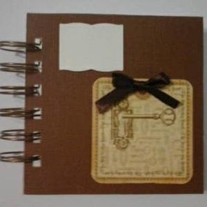 Titok-napló - szeretet kulcsa - tematikus esküvő - album - emlék - ajándék - egyedi, Otthon & Lakás, Jegyzetfüzet & Napló, Papír írószer, Papírművészet, Meska