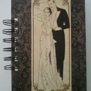 Az ifjú pár - esküvőtervezés - romantikus - emlékmegőrzés - album - tematikus esküvő - jókívánságkönyv - vendégkönyv, Otthon & lakás, Naptár, képeslap, album, Jegyzetfüzet, napló, Esküvő, Papírművészet, Egyedi mintával/díszítéssel készült albumom ajánlom esküvőtervező albumnak, az ifjú pár  készülődésé..., Meska