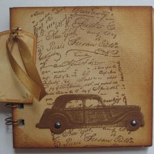 Album/napló - (veterán)autókedvelőknek - nemcsak férfiaknak - autós jegyzetekhez, Otthon & lakás, Naptár, képeslap, album, Jegyzetfüzet, napló, Férfiaknak, Naptár, jegyzet, tok, Papírművészet, Az albumot azoknak a barátaidnak, szeretteidnek ajándékozhatod, akik különböző autókiállítások, vete..., Meska