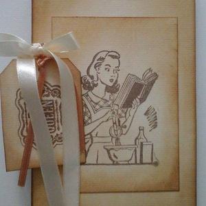 Régi idők receptjei - receptkönyv - nagymama receptjei, Otthon & lakás, Naptár, képeslap, album, Konyhafelszerelés, Receptfüzet, Papírművészet, Mindenki számára nagy érték (egy kedves ajándék) lehet egy olyan receptkönyv, amelybe a nagymamája s..., Meska