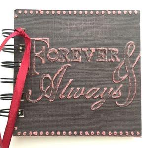 Forever always - Jókívánságkönyv - esküvő -  egyedi termék - emlékmegőrző, Album & Fotóalbum, Emlék & Ajándék, Esküvő, Papírművészet, Örök emlék lehet mások kézírása.\n\nEgyedi mintával készült albumom ajánlom  jókívánságkönyvnek (esküv..., Meska