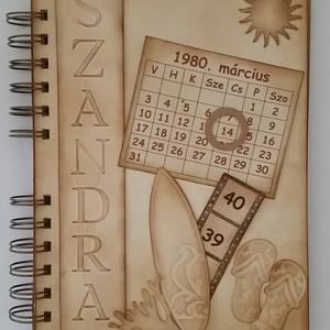 Tengerparti nyaralás - Boldog születésnapot! - dátumhoz kötött ünnepek -  emlékmegőrző album - örök emlék - egyedi , Album & Fotóalbum, Papír írószer, Otthon & Lakás, Papírművészet, Egyedi dombor-,vágott- és bélyegzőmintával készült albumom ajánlom születésnapra, tengerpartot kedve..., Meska