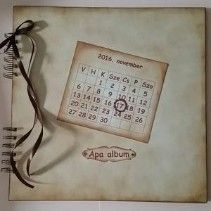 Emlék apának - születésnapi album - szülőköszöntő ajándék - jókívánságkönyv - apa lettem - örök emlék - egyedi termék, Album & Fotóalbum, Papír írószer, Otthon & Lakás, Papírművészet, (Nézz körül Igenigen boltomban is.)\n\nEmlék apának - születésnapjára. Ajándékötlet esküvőre szülőkösz..., Meska