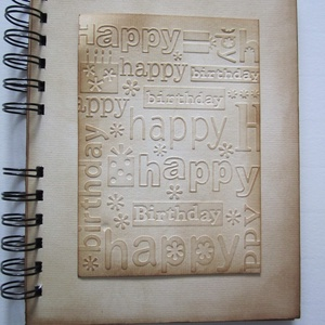 Boldog születésnapot! - emlékmegőrző  album - születésnap - házassági évforduló - örök emlék - egyedi termék - évszám, Otthon & Lakás, Jegyzetfüzet & Napló, Papír írószer, Barátok, családtagok, munkatársak részére lehet jókívánságokat írni a naplóba.  .....vagy barátok, c..., Meska