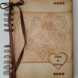 Ajándékötlet  - házassági évforduló - esküvő - eljegyzés - - Emlékmegőrző - album  - naptárral (Milevi) - Meska.hu