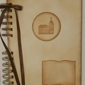 Keresztelőalbum - egyházi esküvő - bérmálás - templom - egyedi felirattal - egyedi termék - örökemlék - keresztszülők, Otthon & Lakás, Album & Fotóalbum, Papír írószer, Egyedi mintával készült albumom ajánlom elsősorban keresztszülőknek, de keresztszülők is ajándékozha..., Meska
