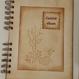 Családi emlékkönyv - emlékmegőrző album - az én családom - emlék a jövőnek - jelen pillanatai  - családi ünnepek -egyedi, Otthon & Lakás, Papír írószer, Album & Fotóalbum, Papírművészet, Meska