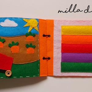 Fejlesztő könyv, Készségfejlesztő & Logikai játék, Játék & Gyerek, Varrás, \nCsendeskönyv\nFilc anyagból készített színes, fejlesztő könyv. A csendeskönyv fejleszti a gyerkőcök ..., Meska