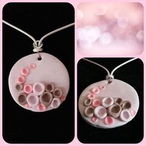 Bubble, Ékszer, Nyaklánc, Medálos nyaklánc, Gyurma, Szines buborékok kavalkádja csokorba gyűjtve.\nKedves,egyedi nyaklánc, melyet süthető gyurmából készí..., Meska
