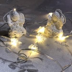 Horgolt angyalka, Otthon & Lakás, Karácsony & Mikulás, Karácsonyfadísz, Horgolás, Karácsonyfadísz.\nMagassága 7cm.\nArany vagy ezüst szegéllyel is kérhető,abban az esetben 600 Ft/darab..., Meska