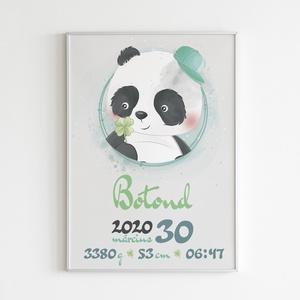 Babaköszöntő, baba születési poszter, falikép, Kép & Falikép, Dekoráció, Otthon & Lakás, Fotó, grafika, rajz, illusztráció, Egyedi, névre szóló baba születési poszter, mely nagyszerű ajándék lehet - akár baba látogatóba is -..., Meska