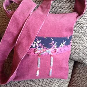 Virágos kord kislány táska, Táska & Tok, Válltáska, Kézitáska & válltáska, Varrás, Meska