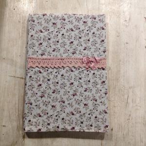 A4 virágos textilborító, Otthon & Lakás, Papír írószer, Jegyzetfüzet & Napló, Varrás, Meska