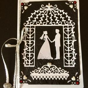 Esküvői képeslap 2, 3D házasságkötés, wedding  (Mimizuku) - Meska.hu