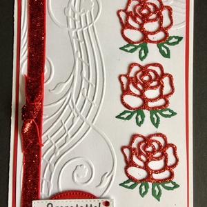Anyáknapi, névnapi, születésnapi rózsás képeslap, Egyéb, Naptár, képeslap, album, Otthon & lakás, Képeslap, levélpapír, Anyák napja, Ünnepi dekoráció, Dekoráció, Mindenmás, Papírművészet, Scrapbook, lyukasztásos technikával készítettem ezt a kissé ünnepélyes rózsás képeslapot, melyet\n kü..., Meska