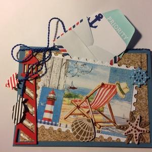 Tengerparti nyaralás képeslap, nyár, szünidő, vakáció, nyáridézés, nyári emlékek, tenger, tengerpart,strand (Mimizuku) - Meska.hu