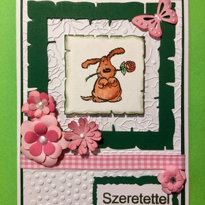Születésnapi, névnapi kutyás képeslap, Képeslap & Levélpapír, Papír írószer, Otthon & Lakás, Papírművészet, Bármilyen alkalomra adható kutyás képeslapot készítettem. A kutyát kézi nyomdával készítettem, majd ..., Meska