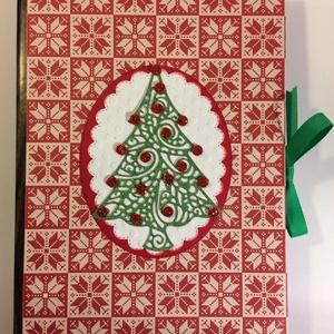 Adventi naptár, Karácsony , Advent,, Adventi naptár, Karácsony & Mikulás, Otthon & Lakás, Papírművészet, Könyvalakú adventi naptárat készítettem minőségi scrapbook papírokból. A benne levő kis borítékokba ..., Meska