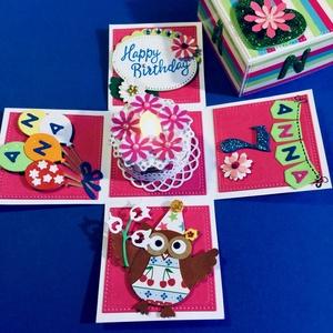 Teamécses torta (varázs) dobozban születésnapra, Gyertya & Gyertyatartó, Dekoráció, Otthon & Lakás, Mindenmás, Papírművészet, Ha egyedi apró ajándékkal szeretnél kedveskedni a születésnaposnak, ez a megfelelő ajándék! \nAz igaz..., Meska