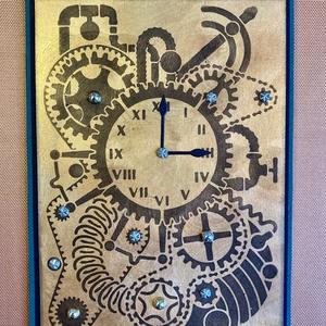Steampunk óra képeslap (Mimizuku) - Meska.hu