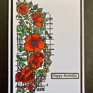 \'Pipacsok\' képeslap, pipacs, virág, , Otthon & Lakás, Papír írószer, Képeslap & Levélpapír, Papírművészet, 10,5cmx14.8cm méretű képeslapom tulajdonképpen bármilyen alkalomra adható, mivel felirat rendelhető ..., Meska