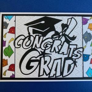 Ballagás, diplomaosztó, végzős képeslap,üdvözlőlap, gratuláció, pénzátadó, Otthon & Lakás, Papír írószer, Képeslap & Levélpapír, Papírművészet, Domborítással, kivágással, festéssel készítettem képeslapomat diplomaosztóra, ballagásra, iskola bef..., Meska