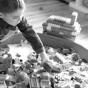 Legozsák pink-lila-rózsaszín (Mimmoza) - Meska.hu
