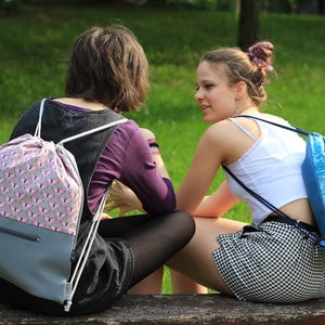 fesztivál táska - hátizsák - szürke pillangós (Mimmoza) - Meska.hu