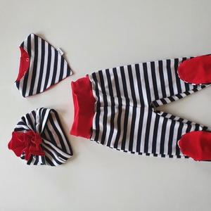 Matrózos szett, Ruha & Divat, Babaruha & Gyerekruha, Nadrág, Varrás, vagány matrózos szett kisbabádnak!\nRugalmas könnyed anyagból készülnek, így nagyon kényelmes viselet..., Meska