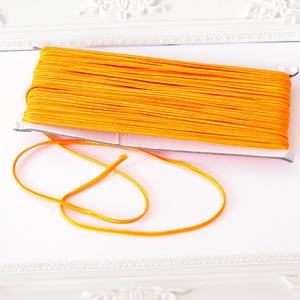 Sujtás zsinór NARANCS, 30m tekercs, Textil, Narancs színű sujtás zsinór, kb. 3 mm széles, bő 30m hosszú tekercs. Nagyon finom, puha, selymes tap..., Meska