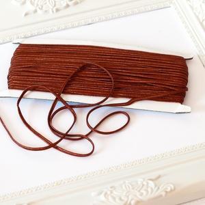 Sujtás zsinór BARNA, 30m tekercs, Textil, BARNA színű sujtás zsinór, kb. 3 mm széles, bő 30m hosszú tekercs. Nagyon finom, puha, selymes tapin..., Meska