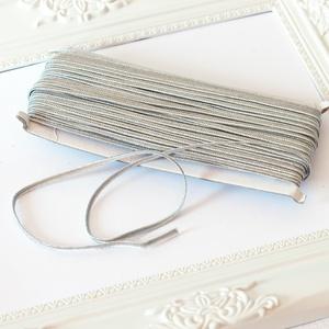 Sujtás zsinór EZÜST, 30m tekercs, Textil, EZÜST színű sujtás zsinór, kb. 3 mm széles, bő 30m hosszú tekercs. Durvább tapintású, picit merevebb..., Meska
