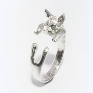 Ezüst francia bulldog gyűrű (minicsiga) - Meska.hu
