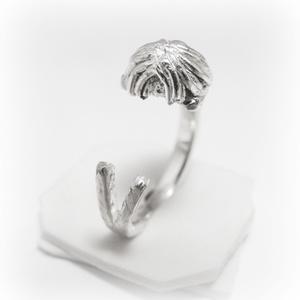 Ezüst/14 K-os arany puli gyűrű, Figurális gyűrű, Gyűrű, Ékszer, Ötvös, Ékszerkészítés, Egyedileg, kézzel viaszból mintázott, utána ezüstből kiöntött gyűrű\n\nMérete állítható!\n\nHa más állat..., Meska