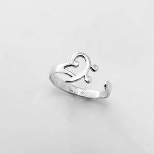 Ezüst basszuskulcs gyűrű , Figurális gyűrű, Gyűrű, Ékszer, Ékszerkészítés, Ötvös, 925-ös ezüstből készül ez a gyűrű\n\nAz ujjméretedet kérlek írd meg üzenetben, Meska