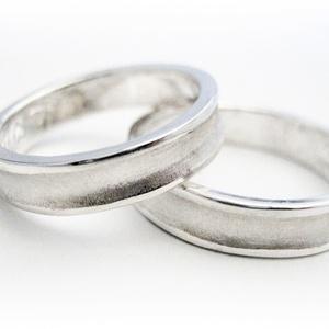 Ezüst homorú karikagyűrű pár, Karikagyűrű, Ékszer, Esküvő, Ékszerkészítés, Ötvös, 925-ös ezüst lemezből készítem a gyűrűket.\n\nEgyedi kérésre lehet változtatást kérni a képen levőhöz ..., Meska