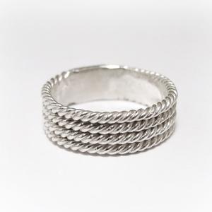 Ezüst fonatos/hajókötél gyűrű, Ékszer, Kerek gyűrű, Gyűrű, Viaszból mintázom a gyűrűt, utána 925-ös ezüstből kiöntetem kidolgozom  Rendeléskor kérlek üzenetben..., Meska