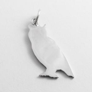 Ezüst bagoly medál - Minicsiga állatkertje, Medál, Nyaklánc, Ékszer, Ékszerkészítés, Ötvös, Minicsiga állatkertje kollekcióm egyik darabja ez a medál.\n\n925-ös ezüstből készül mindegyik.\n\nMinde..., Meska