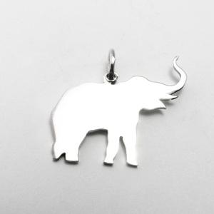 Ezüst elefánt medál - Minicsiga állatkertje, Medál, Nyaklánc, Ékszer, Ékszerkészítés, Ötvös, Egy új, a Minicsiga állatkertje kollekcióm egyik darabja ez a medál. Felnőtteknek, gyerekeknek egyar..., Meska