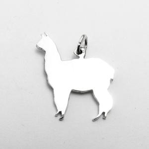 Ezüst láma medál - Minicsiga állatkertje, Ékszer, Medál, Nyaklánc, Egy új, a Minicsiga állatkertje kollekcióm egyik darabja ez a medál. Felnőtteknek, gyerekeknek egyar..., Meska