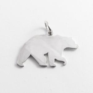 Ezüst medve medál - Minicsiga állatkertje (minicsiga) - Meska.hu
